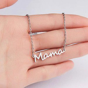 Silver MAMA Necklace Mother